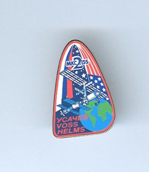 Expedition 2 ISS International Space Station Mission Lapel Pin Official NASA